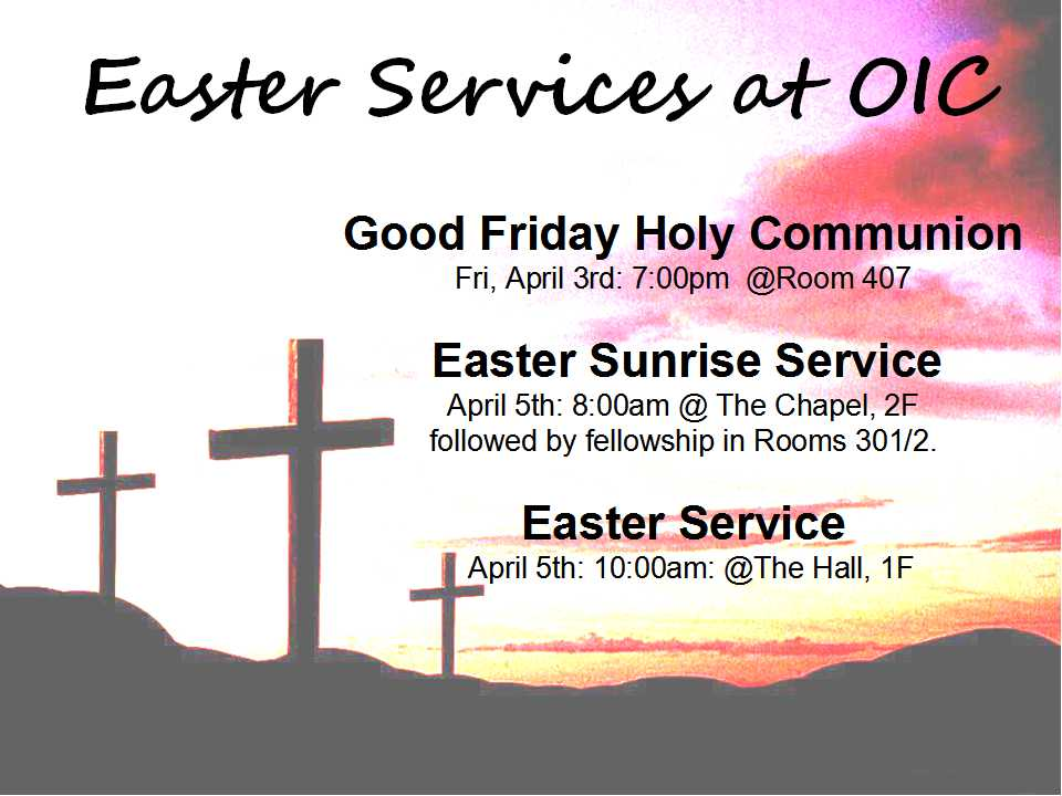 Easter Services at OIC-En